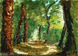 Impressionism - forest path