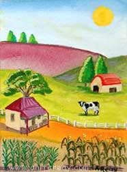 Abstract ACEO farm