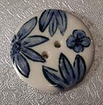 blue and white button