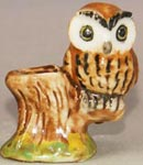 miniature ceramic owl