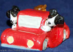 Border collies in a ute