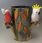 galah cockatoo vase