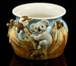 kookaburra and koala vase