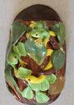 Frog and snake wall pocket vase