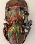 kookaburra koala wall pocket vase