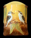 kookaburra relief wall pocket vase