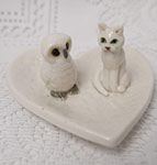 owl and pussycat ring bearer dish